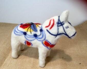 Needle Felted Swedish Dala Horse