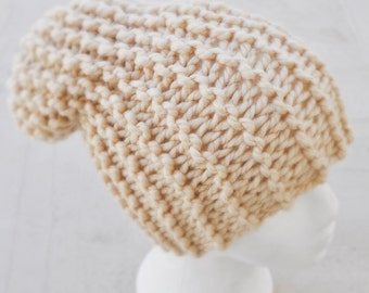 Slouchy Knit Hat, Child Sized Hat, Slouchy Knitted Hat