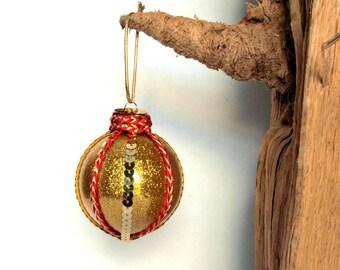 Gold Glittered Ornament