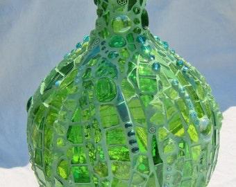 Ultra Green Mosaic Vase/Flask