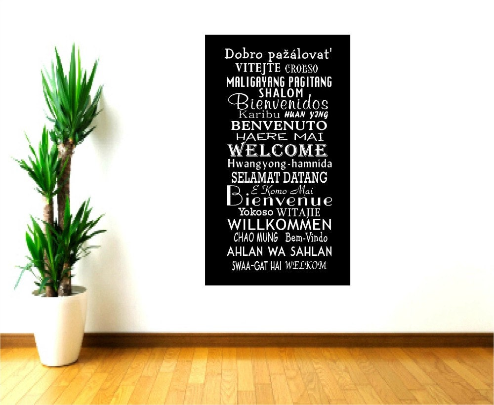 welcome wall decals welcome decor global greetings school zoom