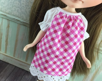 Blythe Smock Dress - Pink and White Gingham