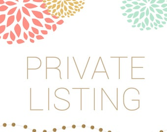 PRIVATE LISTING - Printed