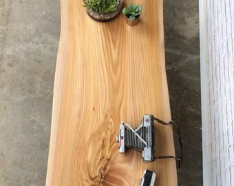 Live Edge  Elm Coffee Table - #262