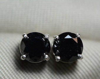 Black Diamond Earrings, 3.60 Carat Diamond Stud Earrings Appraised At 3,600.00 Certified Diamond, Real, Natural, Genuine Diamond Jewellery