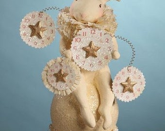 Dee Foust Bunny Rabbit with Clock Watches