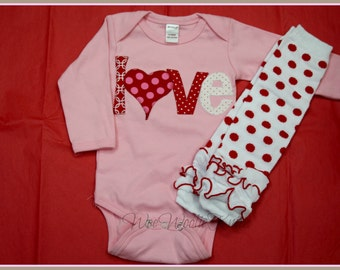baby girl valentine etsy - Infant Valentines Day Outfits