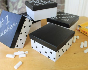 Any Occassion Gift Boxes Set of 5 Boxes Custom Message Chalkboard Lid