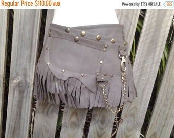 "20%OFF bohemian tribal gypsy fringed leather belt..34"" to 42"" waist or hips.."