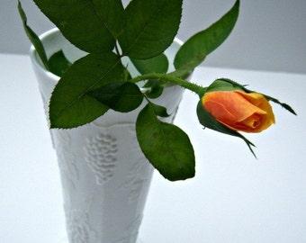 Vintage White Milk Glass Vase Grape Pattern  Online Vintage,  home accents, vintage