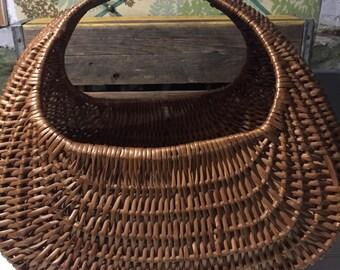 Vintage Basket Large floor magazine holder Home Decor boho bohemian earthy storage