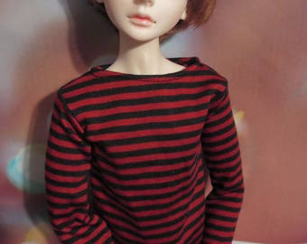 60cm SD/SD13 BJD Red Black Stripe shirt