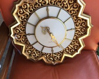 Vintage Seth Thomas Clock. Retro Seth Thomas Wall Clock.