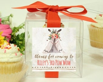 Teepee Birthday Party Favor - Teepee Cupcake Boxes | Teepee birthday party favors | Teepee baby shower favors | Bridal shower favors -