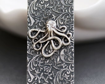 Octopus  Money Clip  Steampunk Money Clip Silver Plated Men's Accessories Men's Gifts,Groomsmen Wedding Gifts, Anniversary Gifts
