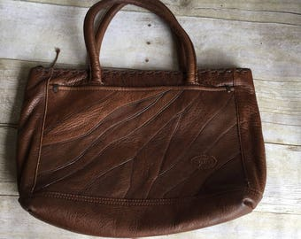 Vintage Leather Purse - Brown - Patchwork Leather
