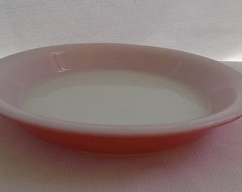 Vintage Pyrex 9 Inch Pie Plate, Flamingo Pink Pie Plate