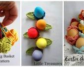 DIGITAL CROCHET PATTERN Easter Egg Cozy,crochet cozy,egg cozy,photo tutorial,crochet pattern,egg cozy pattern,egg basket,crochet basket