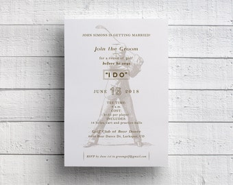 Golf Invitation, Golf Outing, Bachelor Party, Golf Invite, Groom Golf, Golf Weekend, Golf Bachelor Party, Golfing Invitation, Bridal Party