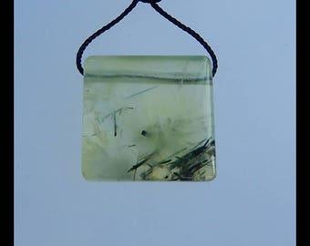Natural Pendant,Prehnite Gemstone Pendant Bead,19x6mm,5.9g(d0119)