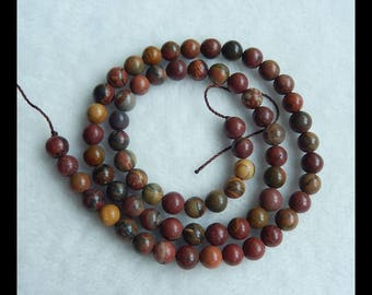Multi-Color Picasso Jasper Loose Beads,1 Strand,41cm In the Lenght,6x6mm,20.9g(e0560)