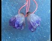 New,Drusy Amethyst Gemstone Earring Bead,16x14x11mm,4.5g
