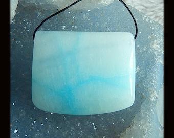 New,Hemimorphite Gemstone Pendant Bead,40x33x13mm,34.6g