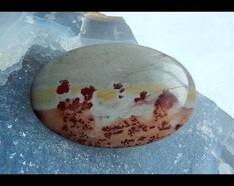 Chohua Jasper Round Cabochon,51x32x5mm,14.3g