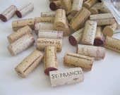 100 used WINE CORKS- from Sonoma county, Wine Country, Craft projects, Natural Red and White Wine