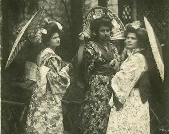 "Vintage RPPC Postcard ""The Spring Along Asian Mountains"" Oval Shape Antique Photo Old Sepia Photograph Found Paper Ephemera Vernacular - 17"