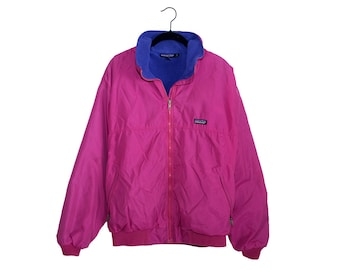 Vintage Patagonia Bright Fuchsia & Purple Jacket / Parka, Made in USA - Large