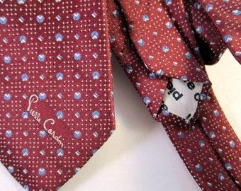 Pierre Cardin Skinny Tie | 1960s Mens Tie | 1950s Mens Tie | Vintage Skinny Tie | Vintage Necktie | Mad Men Party | 1960s Necktie