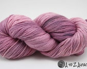 Hand Dyed Royal Baby Alpaca Yarn Bulky Weight Strawberry Cream Shake