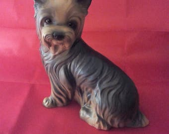 Vintage Goebel W. Germany Yorkshire Dog Statue