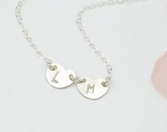 Initial Heart Necklace Personalized, Heart Necklace Silver Gold, Sweetheart Necklace Gift for Her Friend Sister Heart Necklace Birthday Gift