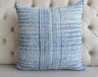 """20""""X20""""Vintage Batik Hmong fabric, Pillow Cover, Cushion Cover, Tribal Throw Pillow Case, Hill Tribe Ethnic Pillow Case,"""