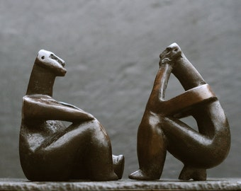 Together Through Time - The Thinker of Hamangia and Sitting Lady figures