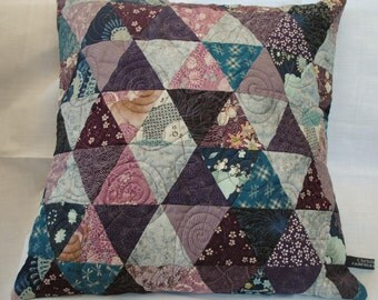 Teal and purple pillow cover #2