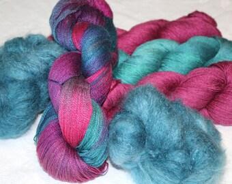 Yarn Cluster merino, silk and mohair