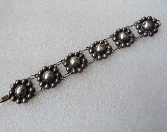 Vintage 1940's Mexico Sterling Silver Link Bracelet