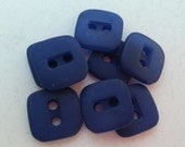 8 Navy Blue Rectangle Center Square Buttons Size 7/16.