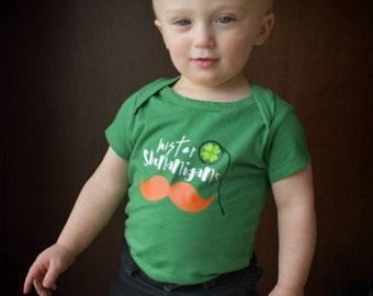 St. Patrick's Day shirt boys St. Patty's day shirt or Bodysuit Saint Mustache Shirt Patrick's Day shirt Saint Patty shirt toddler boy shirt