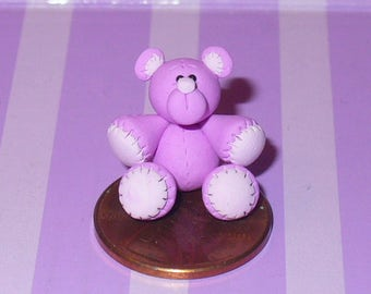 "Miniature Lilac ""Stitched"" Teddy Bear"