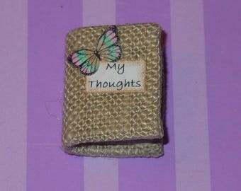 Dollhouse Miniature Book Journal Diary