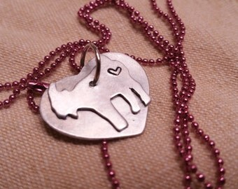 Necklace-SMALL GOAT with HEART by Happy Goat