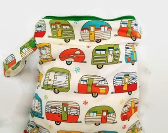 Trailer home print Wet Bag-Four sizes