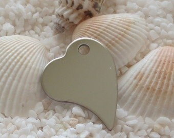 Stainless Steel Heart Pendant - 21mm x 28mm - 1 pc