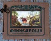 Minneapolis, Minnesota- 1910s Antique Booklet- Historical Landmarks- V O Hammon- Color Lithographs- Souvenir Views- Paper Ephemera