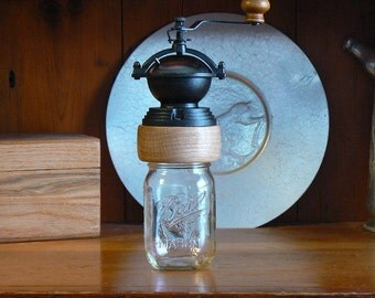 Mechanical Coffee Grinder - Coffee Mill - Fresh Ground Coffee – Canning Jar Base - Burr Grinder - Foodie -CG-MJ20