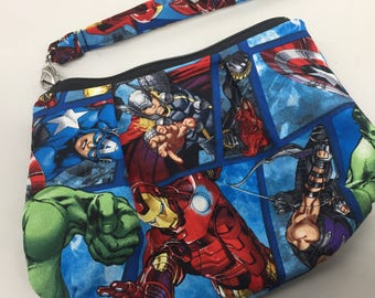 Super Heroes Double Pleated Wristlet